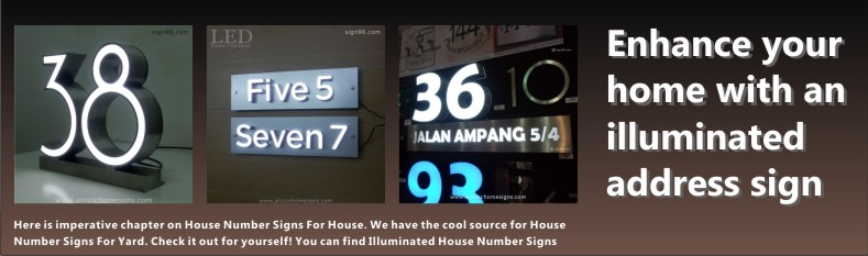 LED Illuminated House Number Address Signage Made In Malaysia Sign Shop
