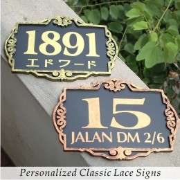 Personalized Classic Lace Signs