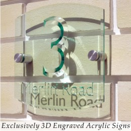 Exclusively 3D Engraved Acrylic Signs