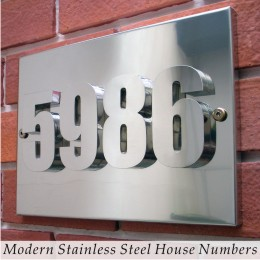 Modern Stainless Steel House Numbers